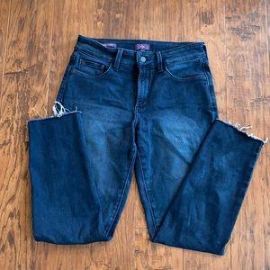 Alina Denim Leggings Jeans NYDJ raw hem 6